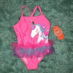 NWT   Wonder Nation   6-9 M   Pink Unicorn Swim